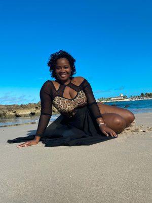 Sancia at the beach